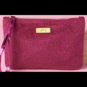 New Ipsy bright pink sparkling bag!